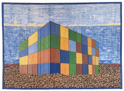 Coffee Beans - Container, 2015. © Abdoulaye Konaté